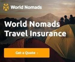 I always use world nomads travel insurance when I travel