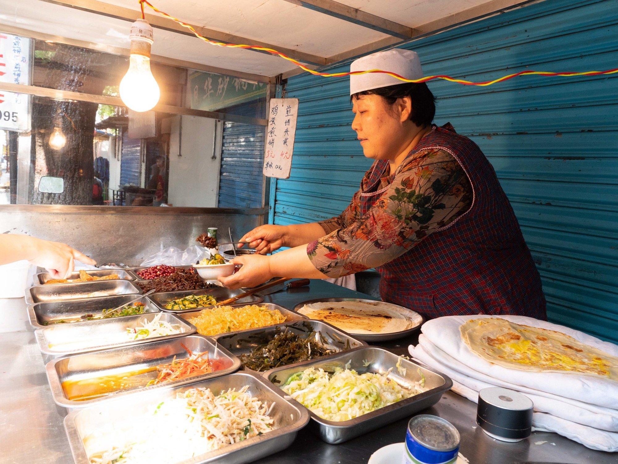 The Xi'an jianbing was one of my favourite street foods in Xi'an!