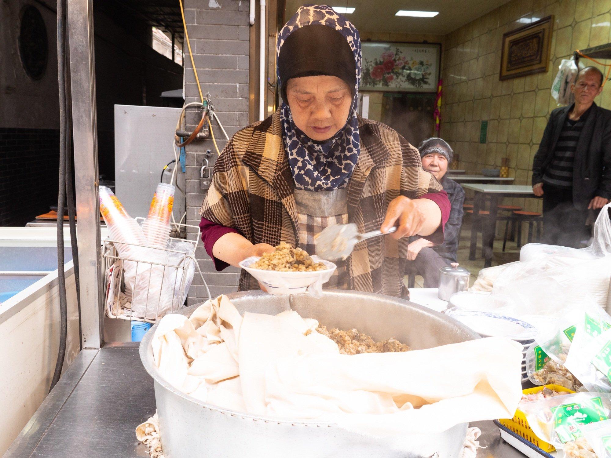 Great street food fenzhengrou in Xi'an