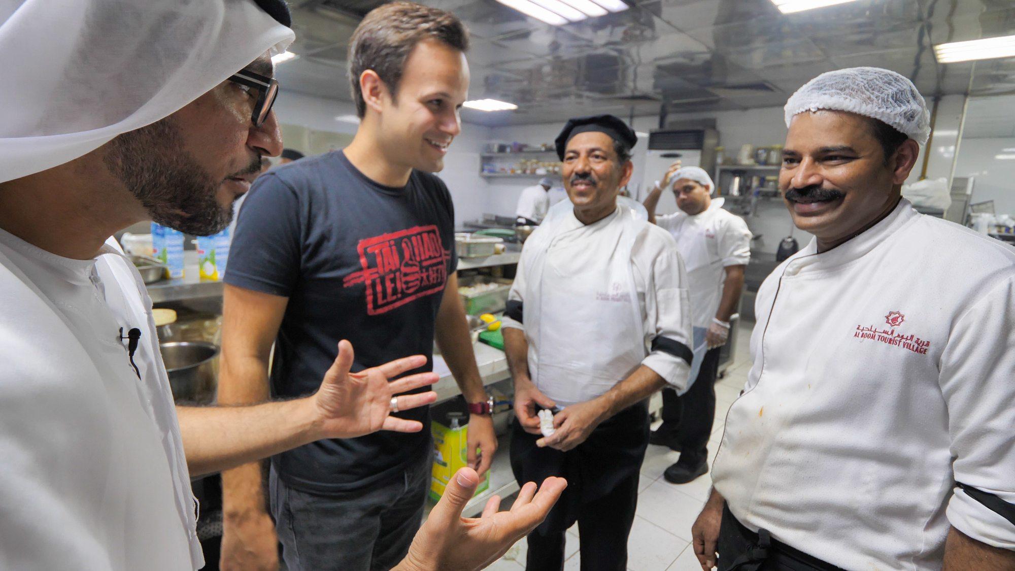 Meeting the chefs at zaman awal restaurant