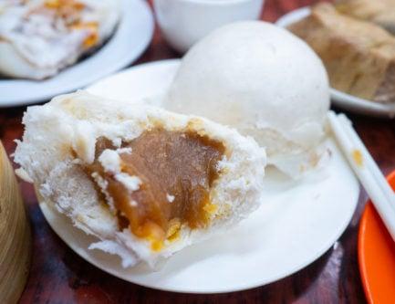 Lotus seed bun dim sum are sweet and super filling dim sum