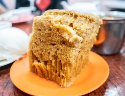 malagao cantonese sponge cake in a dim sum restaurant in hong kong