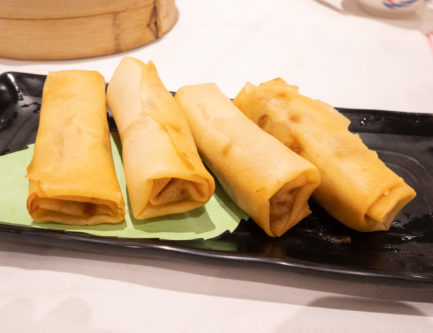 chicken spring rolls are a must order dim sum dish any time you visit a Chinese dim sum restaurant