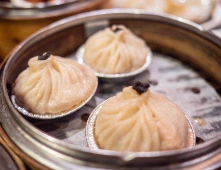 xiaolongbao soup dumplings are very juicy and delicious in dim sum restaurants