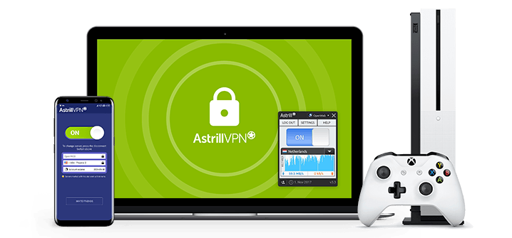 AstrillVPN supports macos, pc, ios, android, and as shown here, Xbox